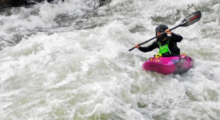 Stacy McBain on the North Fork of the Payette River